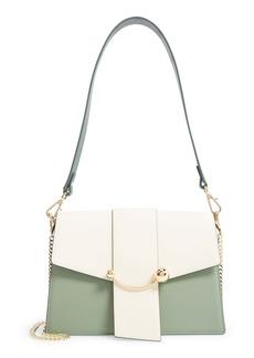 Strathberry Crescent Tricolor Leather Shoulder Bag