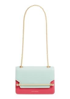 Strathberry East/West Bicolor Leather Shoulder Bag
