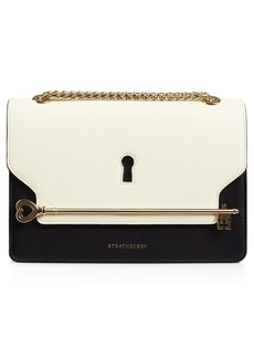 Strathberry East/West Keyhole Leather Crossbody Bag