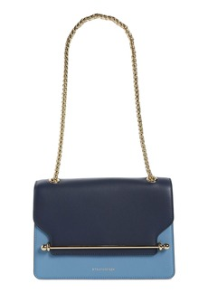 Strathberry East/West Tricolor Calfskin Leather Crossbody Bag