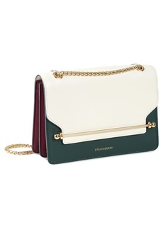 Strathberry East/West Tricolor Leather Crossbody Bag