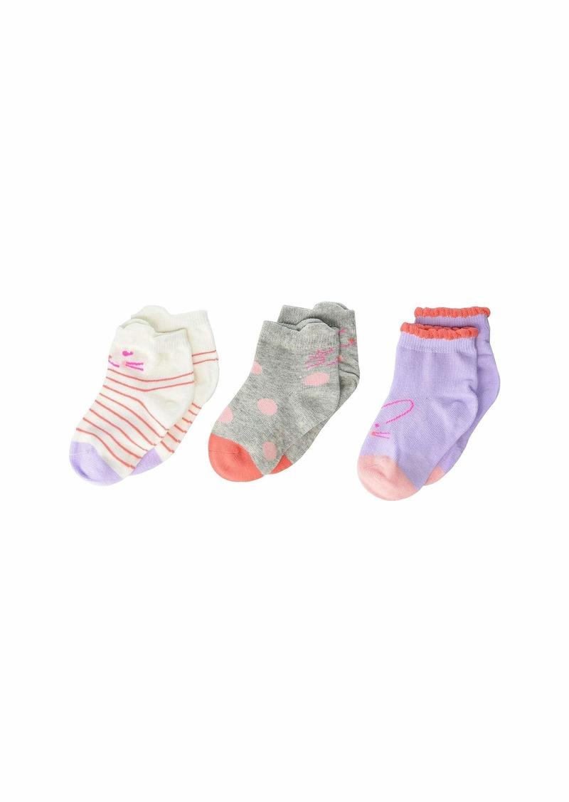 Stride Rite 3-Pack Calista Critter Quarter Socks (Infant/Toddler/Little Kid/Big Kid)