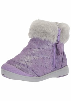 Stride Rite Chloe Girl's Sparkle Suede Bootie Fashion Boot