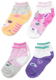 Stride Rite Girls' 4-Pack Quarter Socks