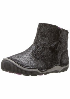 Stride Rite Zoe Toddler Girl's Lightweight Leather Boot Ankle black sparkle