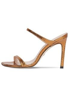 Stuart Weitzman 100mm Snake Print Leather Sandals