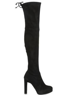 Stuart Weitzman 110mm Plathighland Stretch Suede Boots