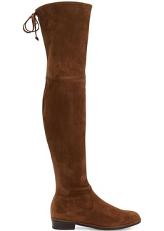 30mm Lowland Stretch Suede Boots