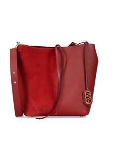 Stuart Weitzman 5050 Leather & Suede Bucket Bag