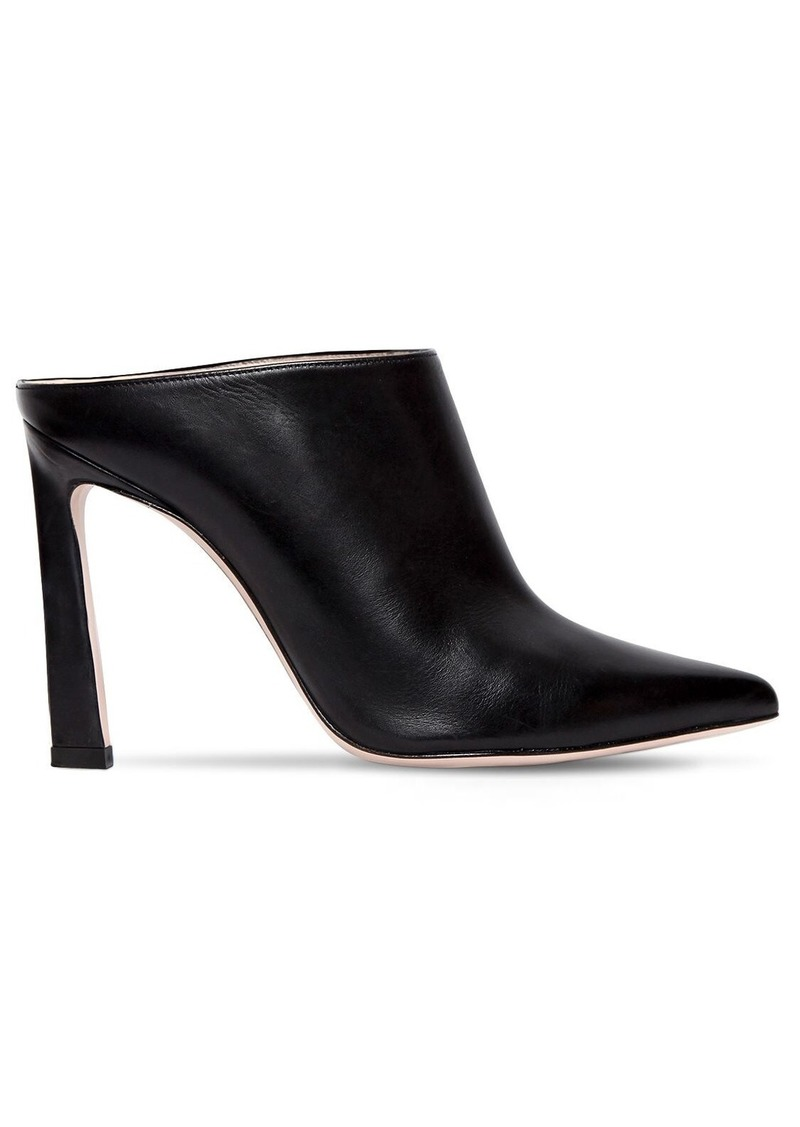 Stuart Weitzman 90mm Camila Leather Mules
