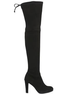 Stuart Weitzman 90mm Highland Stretch Suede Boots