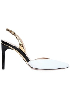 Stuart Weitzman 90mm Stream Lines Leather Slingback Pump