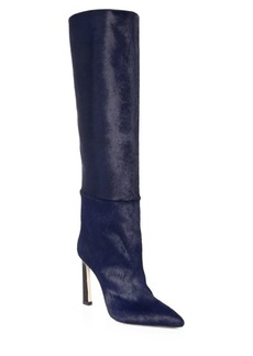Stuart Weitzman Aces Leather, Calf Hair & Pony Hair Knee-High Boots