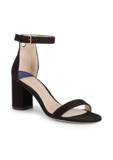 Stuart Weitzman Adelaide Suede Block-Heel Sandals