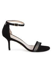 Stuart Weitzman Adrianna Suede & Mesh Ankle-Strap Sandals