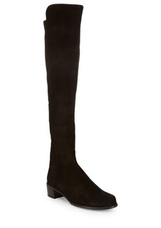 Stuart Weitzman All Serve Suede Over-The-Knee Boots