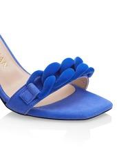 Stuart Weitzman Amelina Chain Block-Heel Suede Sandals