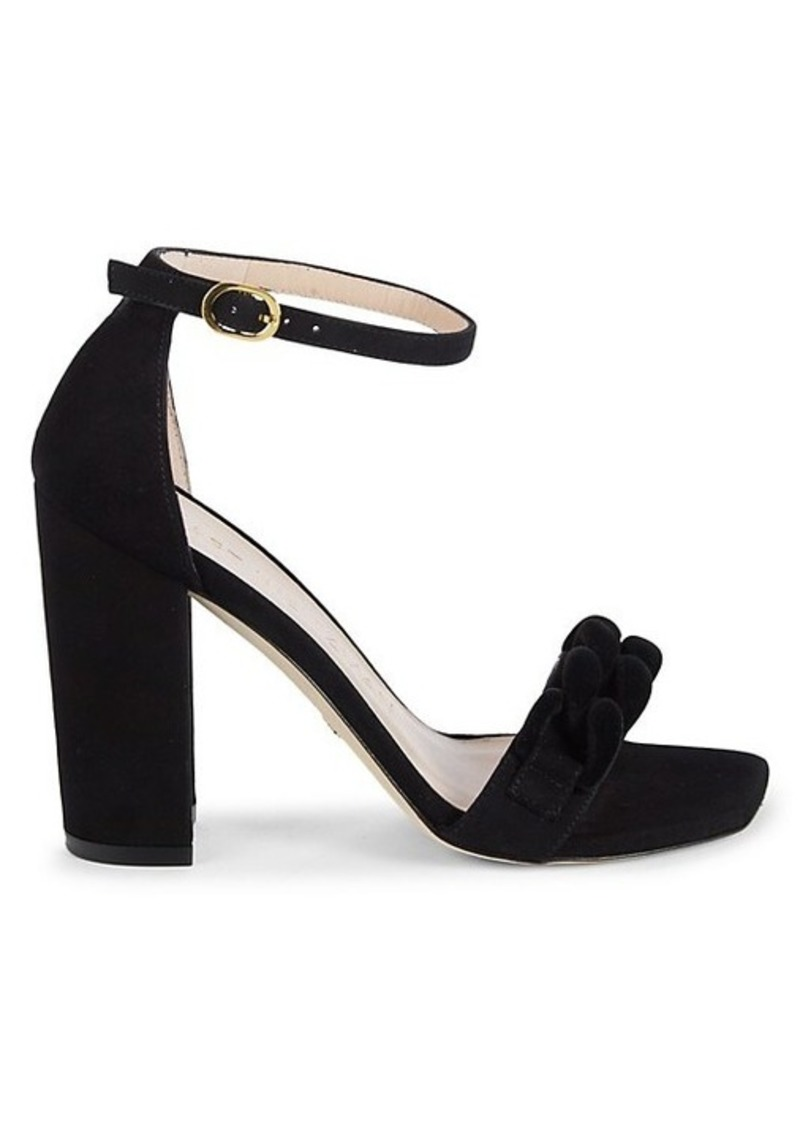 Stuart Weitzman Amelina Chain Suede Sandals