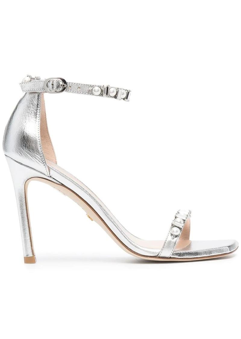 Stuart Weitzman Amelina crystal-embellished sandals