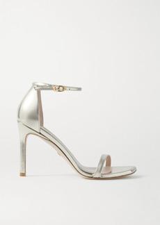 Stuart Weitzman Amelina Metallic Leather Sandals