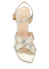 Stuart Weitzman Analeigh Metallic Leather Sandals