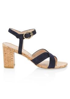 Stuart Weitzman Analeigh Suede & Cork Sandals