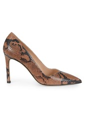 Stuart Weitzman Anny Snakeskin-Embossed Leather Pumps