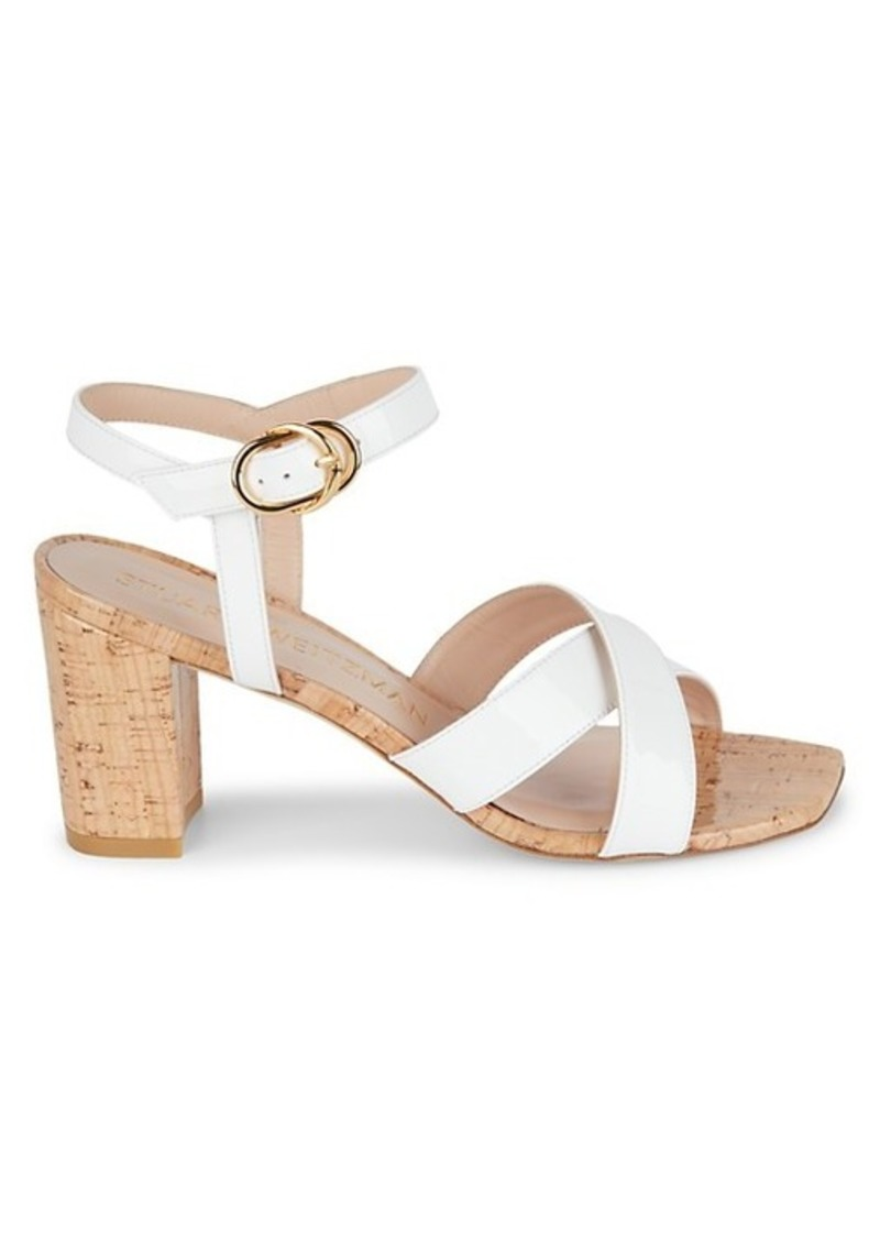 Stuart Weitzman Ashleigh Strappy Cork Sandals