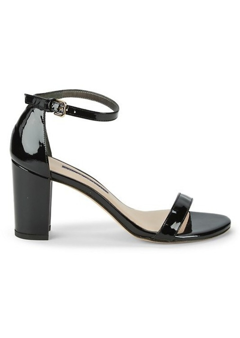 Stuart Weitzman Block-Heel Leather Sandals