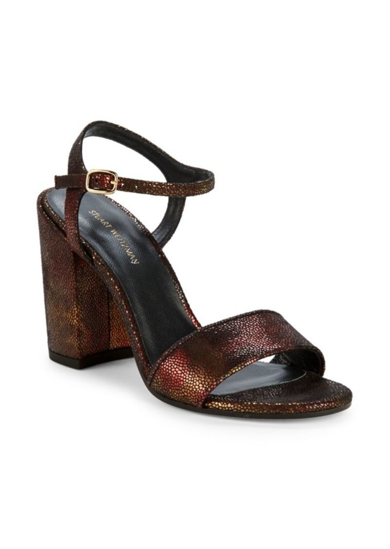 Stuart Weitzman Bothliso Leather Heeled Sandals