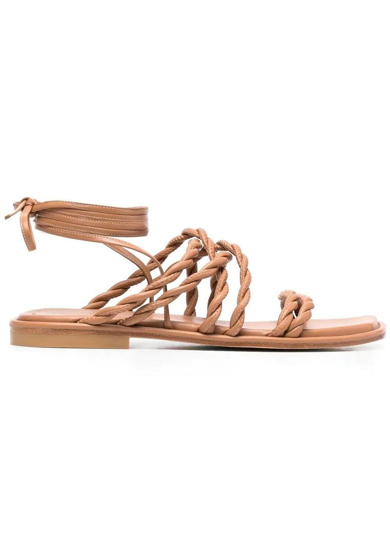 Stuart Weitzman braided-strap sandals
