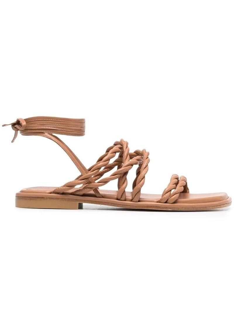 Stuart Weitzman braided strap sandals