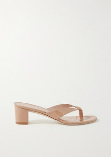 Stuart Weitzman Brigida Patent-leather Sandals