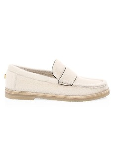 Stuart Weitzman Bromley Dyed Shearling Loafers