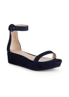 Stuart Weitzman Capri Suede Flatform Sandals