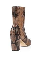 Stuart Weitzman Caressa Python-Embossed Leather Sock Boots