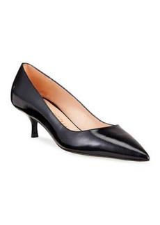 Stuart Weitzman Cindy Patent Leather Mid-Heel Pumps
