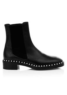 Stuart Weitzman Cline Faux Pearl Leather Chelsea Boots