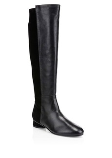 Stuart Weitzman Eloise Leather & Suede Knee-High Boots