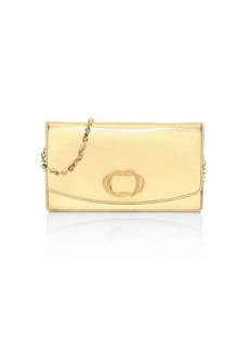Stuart Weitzman Emelie Metalic Leather Clutch
