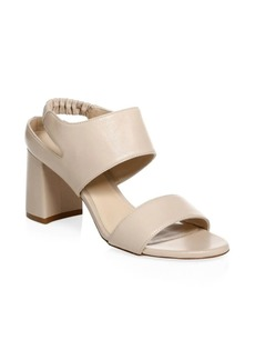 Stuart Weitzman Erica Elastic Strap Block Heel Sandal