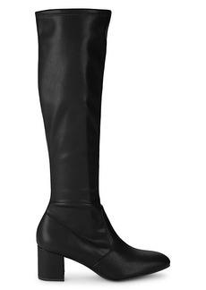 Stuart Weitzman Frannie Leather Knee-High Boots