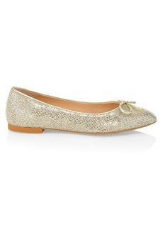 Stuart Weitzman Gabby Glitter Ballet Flats