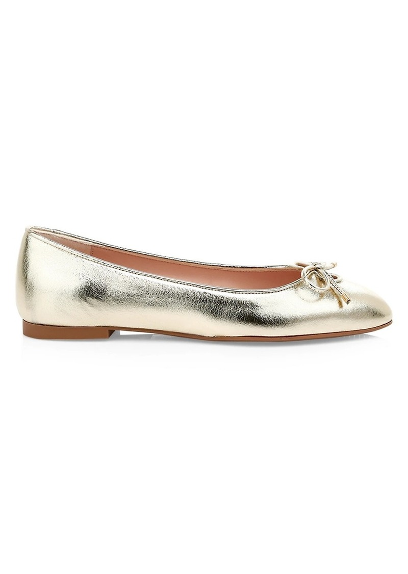 Stuart Weitzman Gabby Metallic Leather Ballet Flats