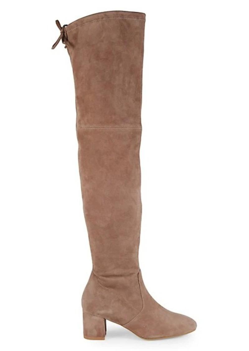 Stuart Weitzman Genna Suede Over-The-Knee Boots