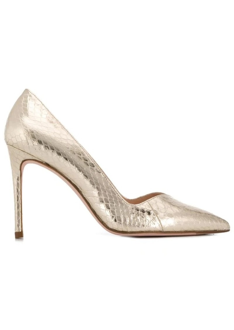 new cheap latest trends good gold snakeskin pumps