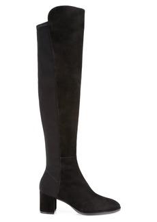 Stuart Weitzman Harper Over-The-Knee Suede Sock Boots