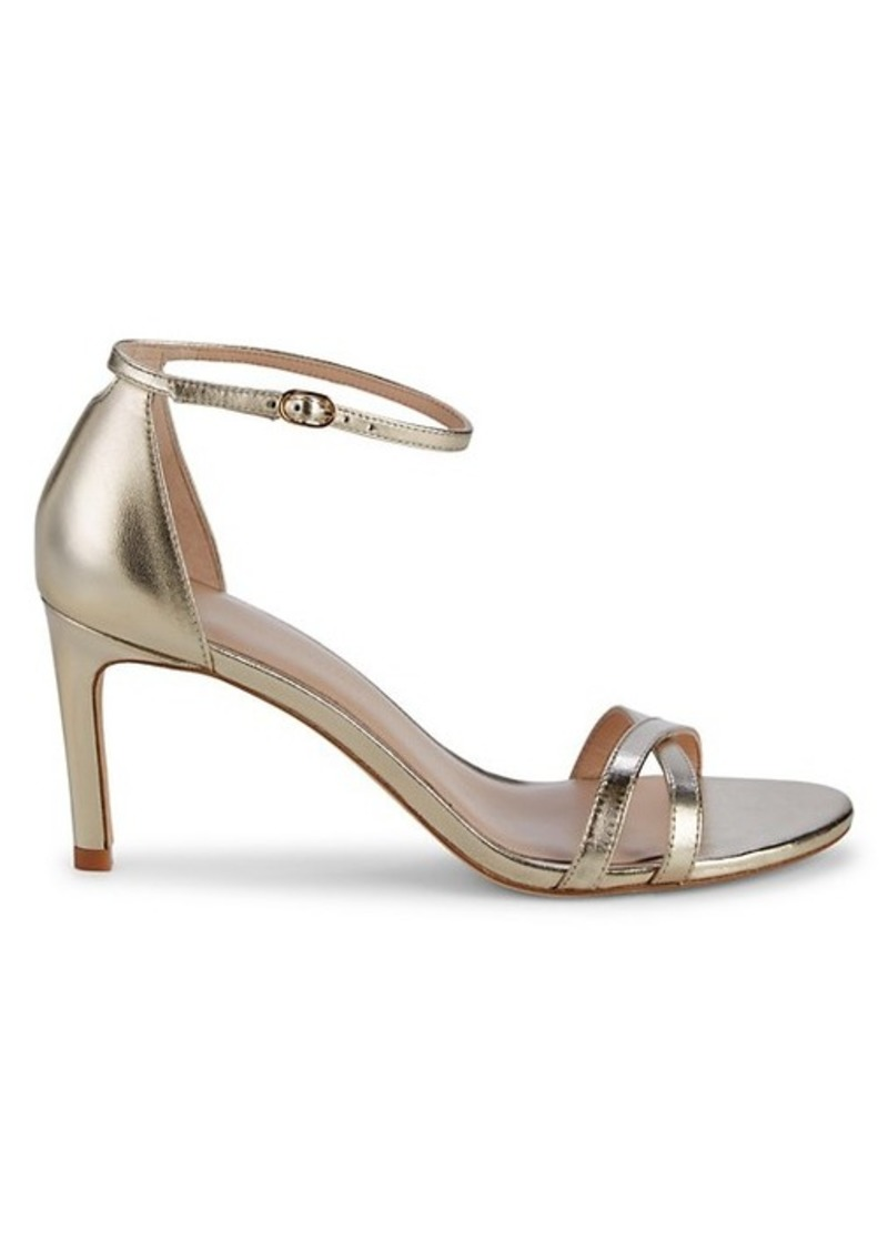 Stuart Weitzman Heeled Leather Sandals