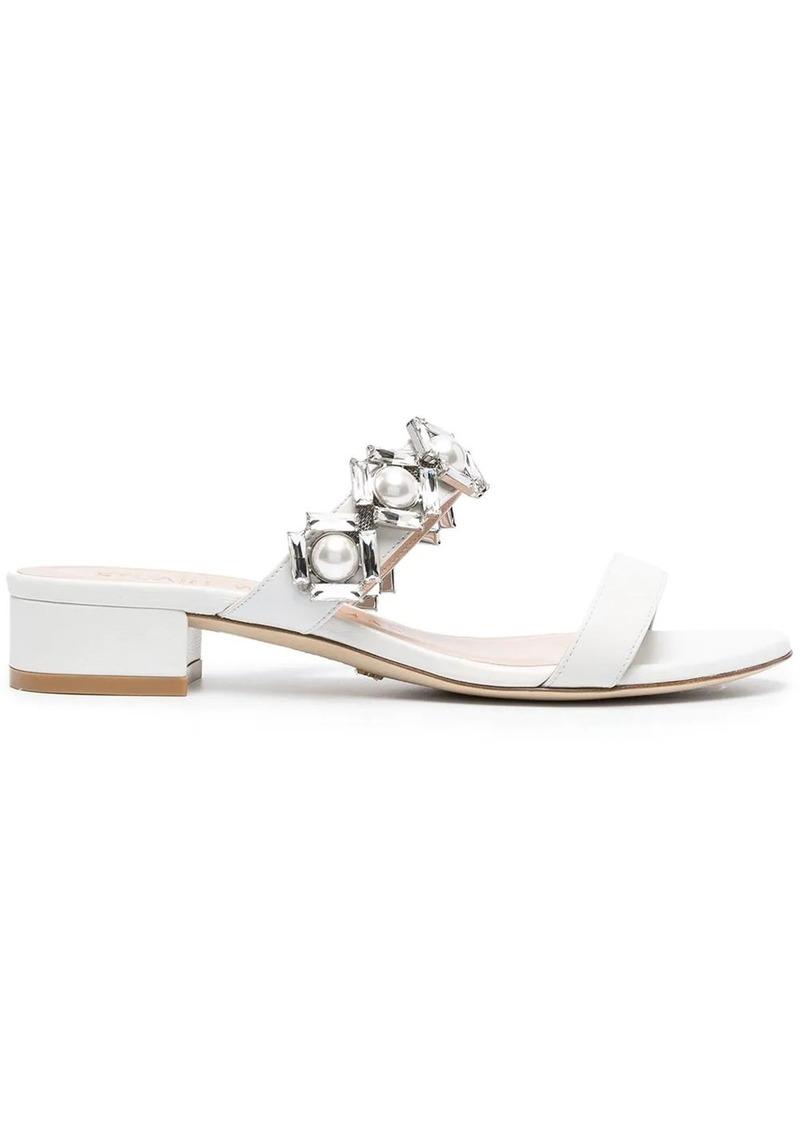 Stuart Weitzman Heidi 35mm rhinestone-embellished sandals