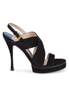 Stuart Weitzman Hester Suede Stiletto Sandals